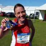 Louise Lowe at Chester Marathon