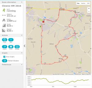 Clowne Half Marathon Route